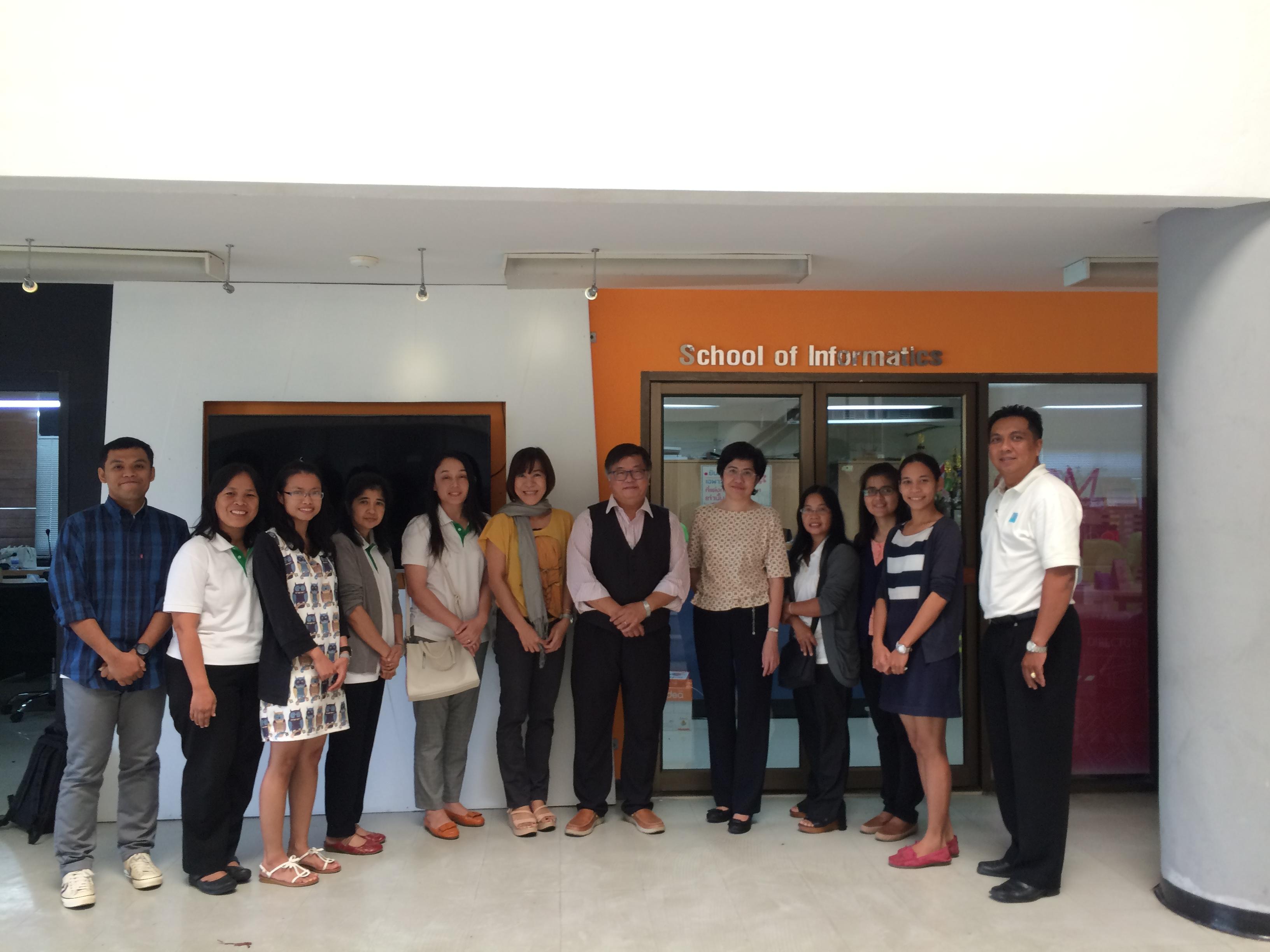 ภาพการเข้าฟังบรรยายและเข้าพบปรึกษางานวิจัยกับ Assoc.Prof.Dr. Lance C. Fung ระหว่างวันที่ 10-12 มีนาคม 2559
