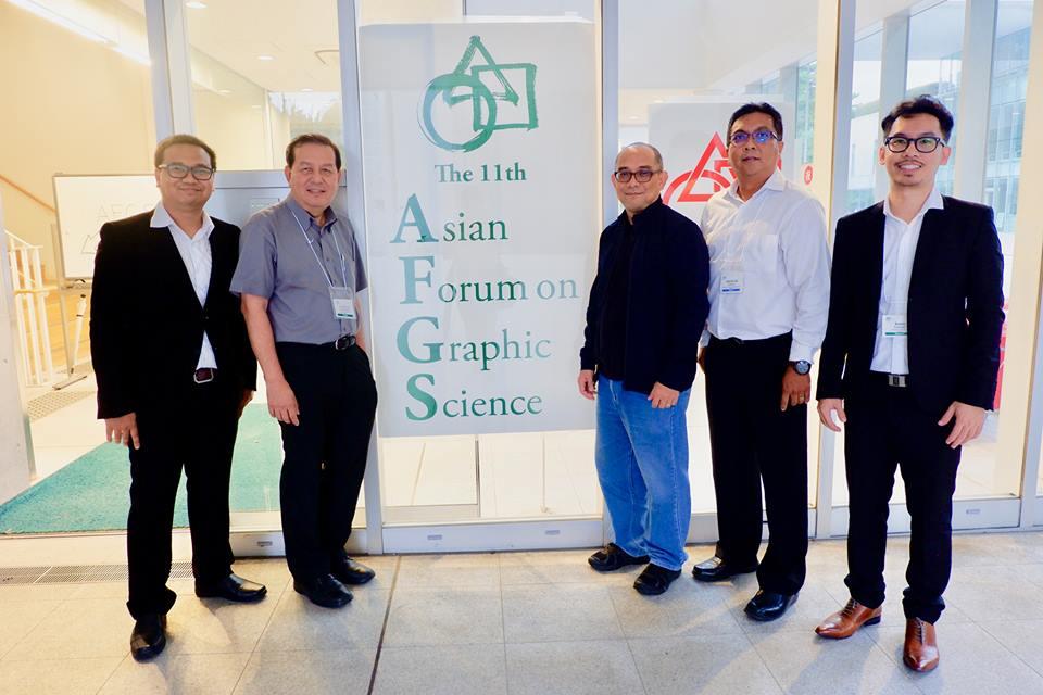 นักศึกษาระดับปริญญาเอก นำเสนอบทความงานประชุมวิชาการระดับนานาชาติ :AFGS 2017 11th Asian Forum on Graphic Science, Tokyo, August 6-10, 2017